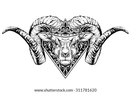 Head Of The Ram Stock Vectors amp Vector Clip Art Shutterstock