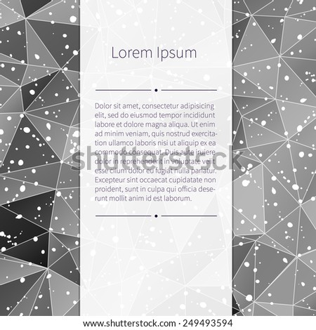 Black and white triangle background for your design. With place for your text. - stock vector