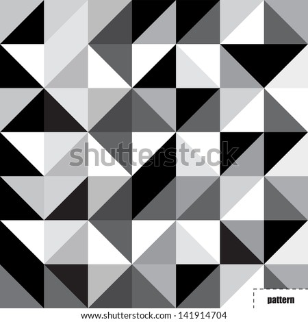 Black and white triangle pattern, background, texture
