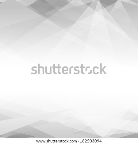 Black and white triangular design background with copyspace. EPS 10 vector illustration. Used opacity mask of background - stock vector