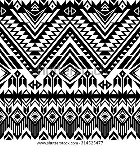 Black and white tribal print free vector download 11874