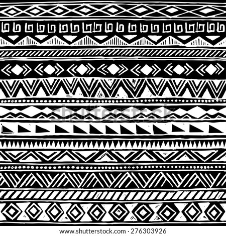 Black White Tribal Navajo Seamless Pattern Stock Vector ... - photo#24