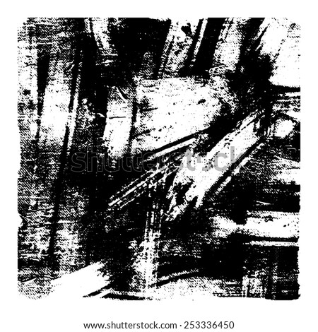 Black and white vector grunge texture. For creating grunge illustrations. Abstract background. Hand drawn. Texture background - stock vector