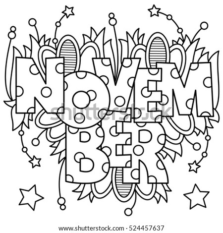 Stock images royalty free images vectors shutterstock for Coloring pages for november