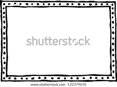 Black and white vector illustration of a decorative frame