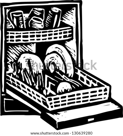 dishwasher clipart black and white. black and white vector illustration of a dishwasher clipart i