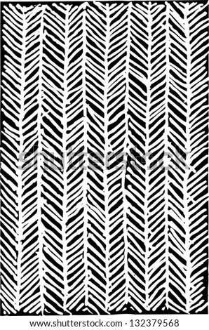 Black and white vector illustration of herringbone pattern - stock vector