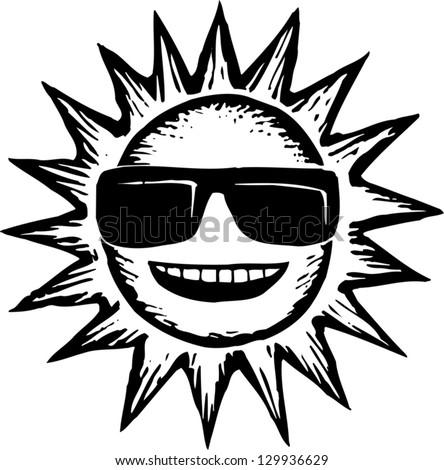Sunglasses Logo Black And White Black White Vec...