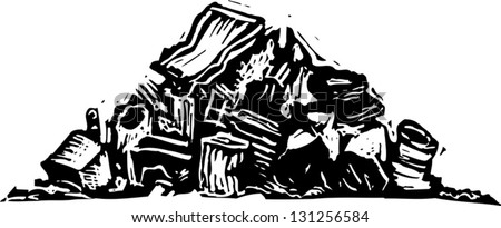 Junk Pile · Black And White