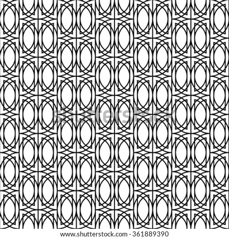 Black and white, vector pattern