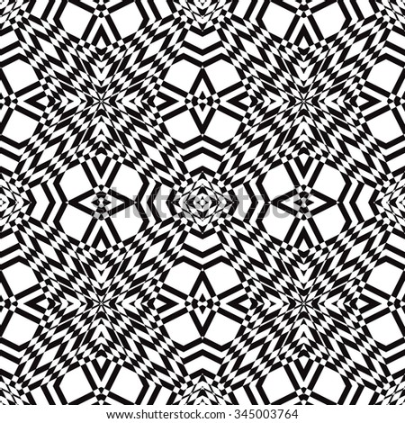 Black and white vector seamless pattern. Abstract background - stock vector
