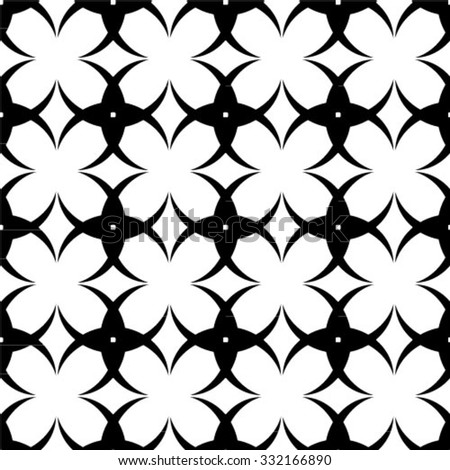 Black and white vector simple pattern