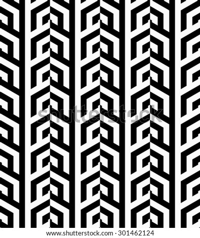 Black and white vertical rows.Seamless stylish geometric background. Modern abstract pattern. Flat monochrome design.