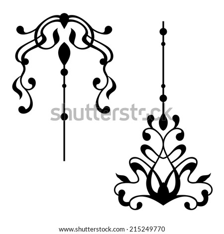Black and white vintage elements - stock vector