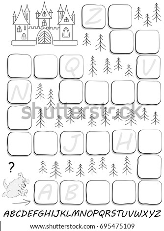 Black White Worksheet Children Exercise Study Stock Photo (Photo ...