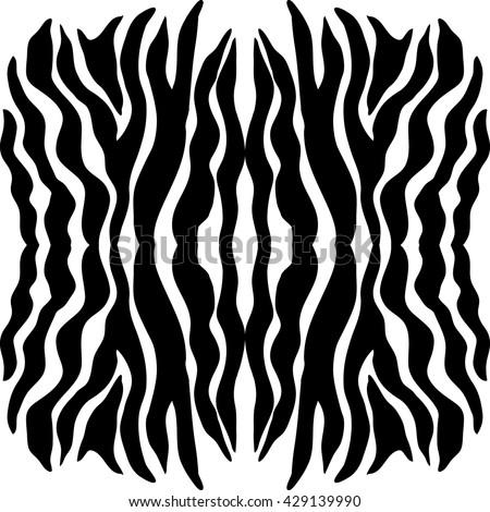Black and white zebra seamless vector pattern. Safari textile collection. - stock vector