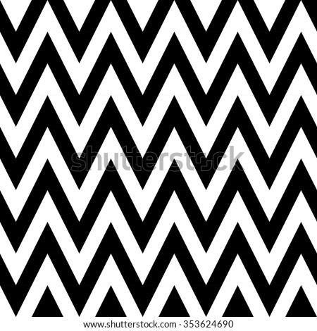 Black and white zigzags. Seamless pattern of geometric lines - stock vector