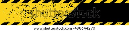Black and yellow road sign rectangular background Diagonal stripes Texture grunge Warning image background Dangerous pattern Grunge construction sign for your text