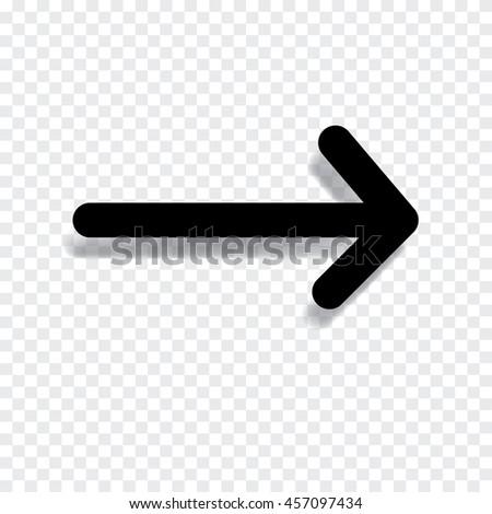 Black arrow vector illustration. - stock vector