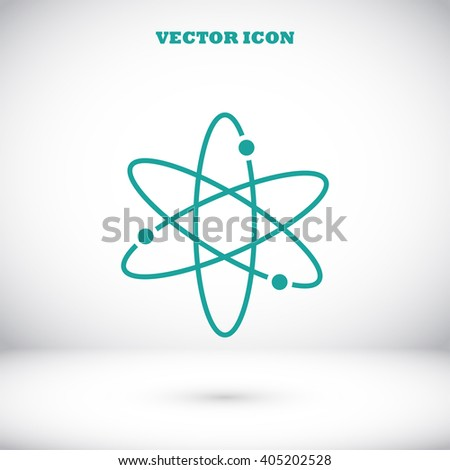 Black atom icon - stock vector