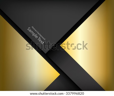 black background dimension gold vector illustration design modern - stock vector