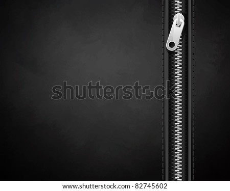 black background made of leather with a lock