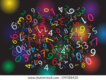 Black background with color figures. - stock vector