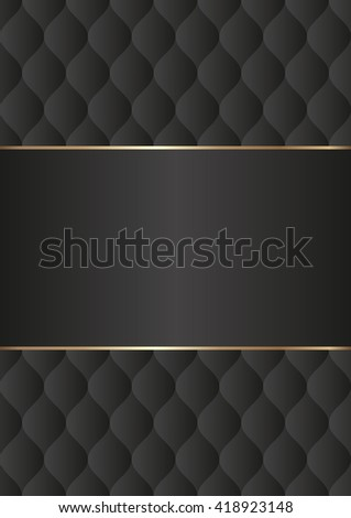black background with decorative pattern - stock vector