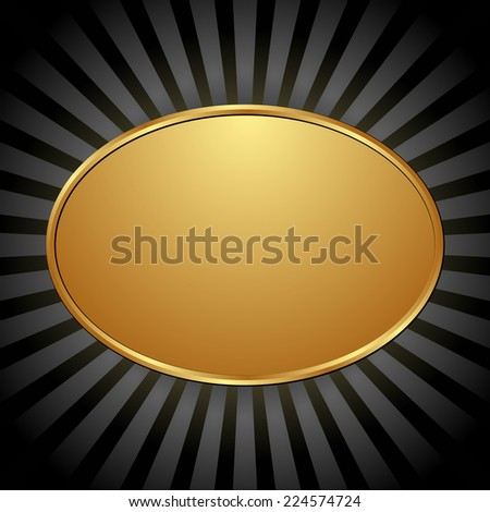 black background with golden banner - stock vector