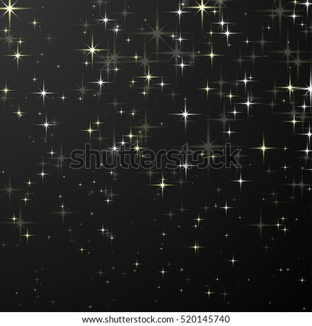 Black Background with Stars