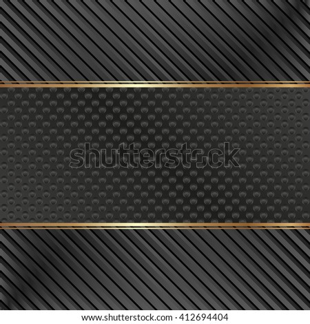black background with stripes and dots - stock vector