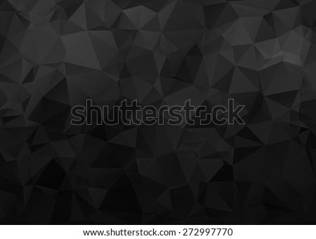 Black Background with Triangle Pattern - stock vector