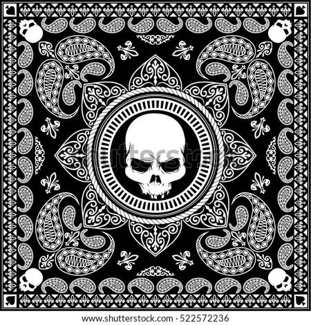 black bandana cool design masker stock vector 522572236
