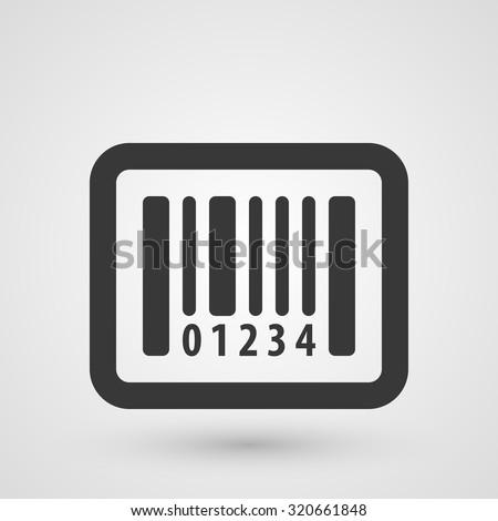 Black bar code icon. Symbol about shopping concept. - stock vector
