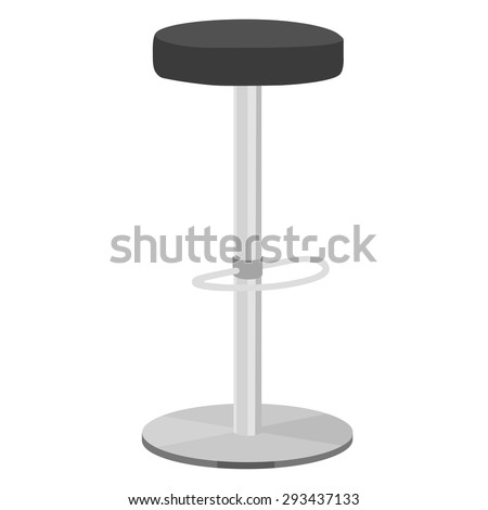Black bar stool vector illustration. Bar chair. High chair. Bar interior design.  sc 1 st  Shutterstock & Stool Chair Stock Images Royalty-Free Images u0026 Vectors | Shutterstock islam-shia.org