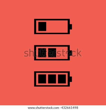 Black battery icon vector illustration - stock vector