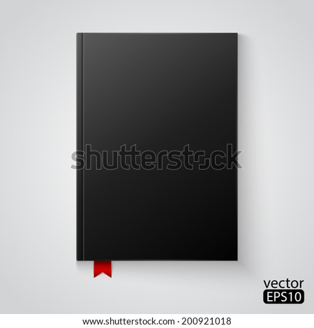 black blank book - stock vector