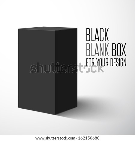 Black blank box. Vector illustration - stock vector