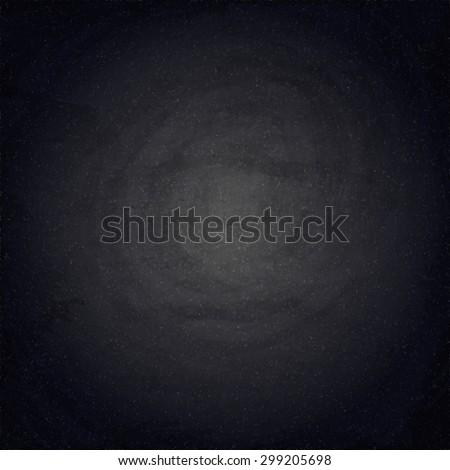 Black blank chalkboard background. Vector texture EPS10 - stock vector
