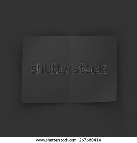 Black blank magazine spread. Business mockup template. Presentation of your branding and identity design. Vector Illustration EPS10. - stock vector