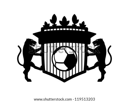 Black Blank Panther Soccer Crest