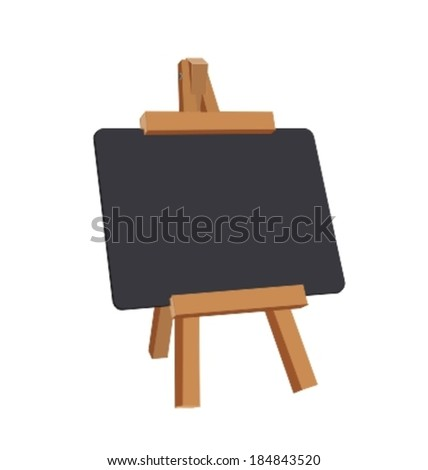 Black Board with Copy space isolated with clipping path - stock vector