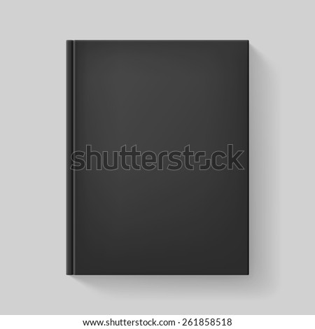 Black book. Illustration on gray background for design. - stock vector