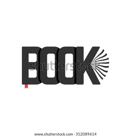 black book logo with bookmark. concept of booklet, bookshelf, ebook, reader, classbook, e-book, scrapbook, novel. isolated on transparent background. flat style trend modern design vector illustration - stock vector