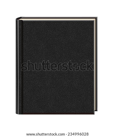 Black book on white background - stock vector