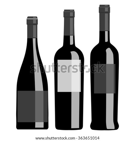 Black bottle on a white background