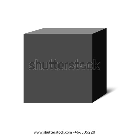 Black box. Cube. Package. 3D. Vector illustration.