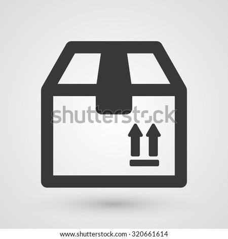 Black box icon. Symbol about shopping concept. - stock vector