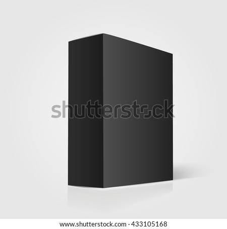 Black box mockup - stock vector