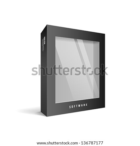 Black box software package, vector illustration